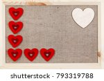 Heart On A Wooden Background...