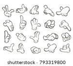 a set of vector cartoon... | Shutterstock .eps vector #793319800