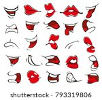 a set of vector cartoon... | Shutterstock .eps vector #793319806