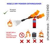 extinguisher tank type. m2b l2  ... | Shutterstock . vector #793323400