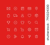 outline commercial icons | Shutterstock .eps vector #793324330