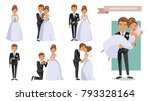 wedding couple set of... | Shutterstock .eps vector #793328164
