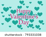 valentines day illustrations... | Shutterstock .eps vector #793331038