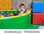 little boy 1 year playing in... | Shutterstock . vector #793332034