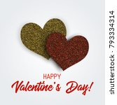 happy valentine's day... | Shutterstock .eps vector #793334314