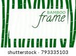 bamboo frame. background in... | Shutterstock .eps vector #793335103