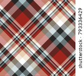 plaid check patten in red ... | Shutterstock .eps vector #793336429