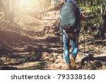 asian man traveling photograph... | Shutterstock . vector #793338160