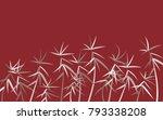 leaves pattern. bamboo leaves.... | Shutterstock .eps vector #793338208