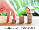 hose model set on coins saving...   Shutterstock . vector #793340029