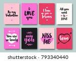 valentines greeting card set... | Shutterstock .eps vector #793340440