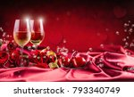wine cups red roses and...