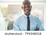 smiling african businessman... | Shutterstock . vector #793348318