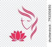 beautiful woman vector logo... | Shutterstock .eps vector #793350850