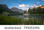 emerald lake with emerald lake... | Shutterstock . vector #793351096