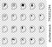 thinking heads icons. vector... | Shutterstock .eps vector #793351294