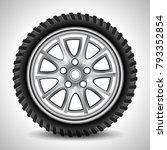 realistic black auto tire  ... | Shutterstock .eps vector #793352854
