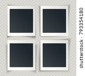 blank photo frames with... | Shutterstock .eps vector #793354180
