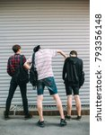 street gang hooligans. teenage... | Shutterstock . vector #793356148