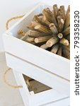 cream and white wooden crate... | Shutterstock . vector #793358230