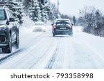 winter road in beatiful... | Shutterstock . vector #793358998