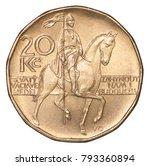 20 czech korun with the image... | Shutterstock . vector #793360894