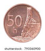 50 slovakian halier with image... | Shutterstock . vector #793360900
