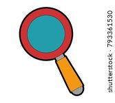 search magnifying glass icon | Shutterstock .eps vector #793361530