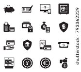 solid black vector icon set  ... | Shutterstock .eps vector #793362229