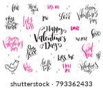 vector hand lettering valentine'... | Shutterstock .eps vector #793362433