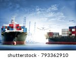 logistics and transportation of ... | Shutterstock . vector #793362910