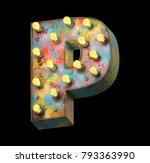 metal painted retro sign lamp... | Shutterstock . vector #793363990