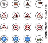 line vector icon set   traffic... | Shutterstock .eps vector #793365448