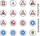 line vector icon set   parking... | Shutterstock .eps vector #793367728