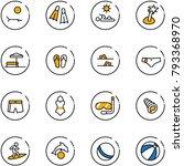 line vector icon set   lounger... | Shutterstock .eps vector #793368970