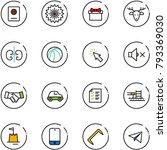 Line Vector Icon Set   Passpor...