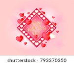 vector greeting card for... | Shutterstock .eps vector #793370350