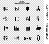 simple training icon set....