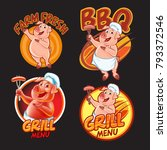 pig label and badge | Shutterstock .eps vector #793372546