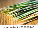 A Bunch Of Dried Palm Sharp...