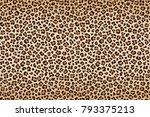 leopard texture  brown beige... | Shutterstock .eps vector #793375213