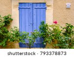 a traditional provencal window... | Shutterstock . vector #793378873