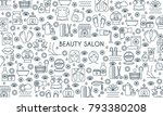 thin line design banner on... | Shutterstock .eps vector #793380208
