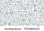 thin line design banner on...   Shutterstock .eps vector #793380223