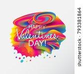 valentine's day artistic hand... | Shutterstock .eps vector #793381864