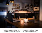 kitchen with bar counter. home... | Shutterstock . vector #793383169