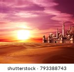 a fabulous lost city in the... | Shutterstock . vector #793388743