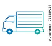 delivery truck isolated icon | Shutterstock .eps vector #793389199