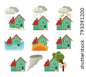 set of icons for house... | Shutterstock .eps vector #793391200