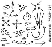 set of arrows illustrated in... | Shutterstock .eps vector #793394119